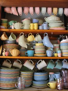 Petal Ware in James' kitchen, Autumn 2003 by mollykiely, via Flickr