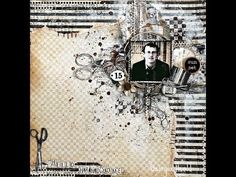 Mixed Media Layout with Prima Marketing Pinwheel stencils and Finnabair mediums by Keren Tamir - YouTube