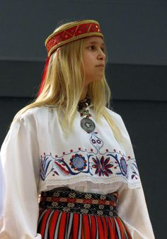 The traditional girls dressing from Harjumaa, Estonia