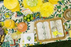 Kimberly Schlegel Whitman Margarita Bar Schumacher Citrus Garden tablecloth