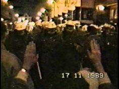 The very first film shots from Velvet Revolution on 17th of November 1989 - YouTube November 17, Teaching History, Communism, Prague, Time Travel, Revolution, Bunker, Aphrodite, Russia