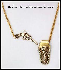 On aime sur Midipile : porter le revolver autour du cou  http://blog.midipile.com/post/85110097483/on-aime-le-collier-gun-slinger-more