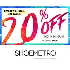 Shoe Metro : 20% off any order http://www.mybargainbuddy.com/shoe-metro-extra-25-off-clearance-items