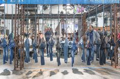 "DENIM by PREMIER VISION, Barcelona,Spain, ""A BRAND JEAN'S Stand"", pinned by Ton van der Veer"