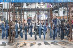 "DENIM by PREMIER VISION, Barcelona,Spain, ""A BRAND JEAN'S Stand"", pinned by Ton van der Veer"