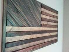American Flag theme Wood Wall Art by WeatheredWoodWalls on Etsy Small Wood Projects, Woodworking Plans, How To Plan, Crafts, Home Decor, Homemade Home Decor, Wood Effect Worktops, Handmade Crafts, Interior Design
