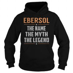 cool Happiness is being a EBERSOL shirts personalized, Tee shirts
