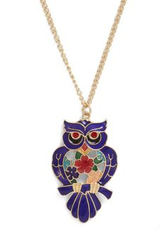 Owl say necklace #Modcloth