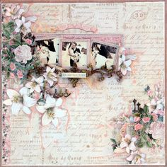 """Tina Marie - Forever and Always: """"Kiss"""" created for The Scrapbook Store - Graphic 45 Gilded Lily collection"""