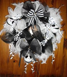 #Nightmare #Before #Christmas #Wreath #Jack #Skellington #Baubles