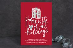 Home is the Heart Holiday Non-Photo Cards by Stacey Hill at minted.com