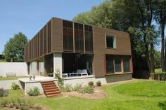 Two Level Contemporary Small Home Viewed
