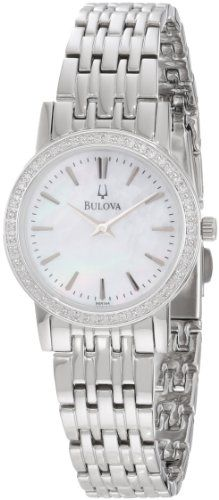 Women's Wrist Watches - Bulova Womens 96R164 Round Diamond Bezel Watch >>> You can get additional details at the image link.