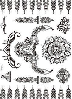 Black henna Tattoo bracelet black mandala bracelet Flash tattoo Jewelry temporary Montreal tattoo wedding tattoo indian wedding by LeoToro on Etsy