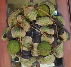Burlap Everyday Wreath. $89.00, via Etsy.