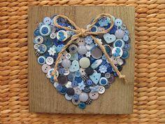 Een hart van knopen, blauw.