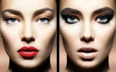 Useful tips ; if your eyes are not heavy with colors, use a bright shade of lipstick. If your eye colors are heavy, use a lower tone for your lips.