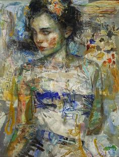 Painting by ©Charles Dwyer #art #woman #portrait #modern