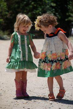 Retro toddler girls dresses