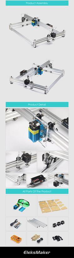 Banggood product images: EleksMaker® EleksLaser-A3 Pro 2500mW Laser