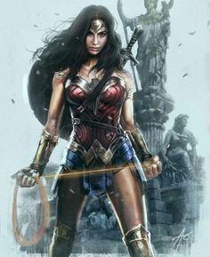 Do you can't get enough of Wonder Woman's overall awesomeness? Do you plan to unleash your inner superhero? Are you a die-hard fans of Wonder Woman? Wonder Woman Kunst, Wonder Woman Art, Gal Gadot Wonder Woman, Wonder Women, Wonder Woman Movie, Superman Wonder Woman, Comic Book Characters, Female Characters, Comic Books