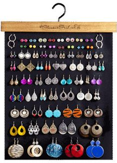 Discover thousands of images about Glamour Grid Earring Organizer Product DetailsHanging earring organizer by hollyburden on Etsy - Jewelry IdeasIdeas for jewerly stand diy necklaces display ideasSterling Silver Jewelry For WomenSilver Jewelry Made In Mex Diy Necklace Display, Diy Jewelry Holder, Earring Display, Diy Earring Holder, Earring Storage, Homemade Earring Holders, Necklace Holder, Craft Jewelry, Handmade Jewelry