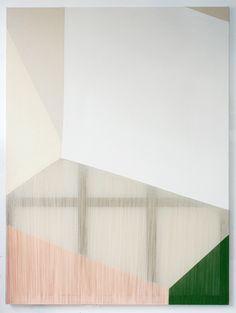 Rebecca Ward, epicene (2014) Acrylic on stitched canvas