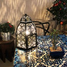 Literary loved their purchase from LittleLightBazaar Table Lamp Base, Lamp Bases, Moroccan Table Lamp, Privacy Settings, Accent Lighting, Bronze, Trending Outfits, Console, Dresser