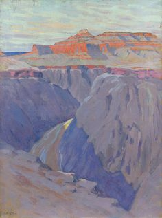 """The Destroyer,"" Arthur Wesley Dow, ca. 1911-13, oil on canvas, 40 x 30"", Minneapolis Institute of Arts."
