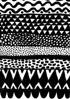 Black and white patterns Surface Pattern, Pattern Art, Pattern Design, Black And White Drawing, Black And White Design, Textiles, Textile Prints, Pretty Patterns, White Patterns