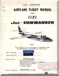 Aero Commander 1121   Aircraft Flight Manual - 1964