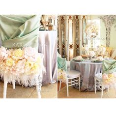 Feeling a little French today.  Inspired by the lovely hues of Marie Antoinette. #karentran