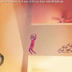 Looking for Elf On the Shelf ideas?  Check out these 40 suggestions!! #elfontheshelf
