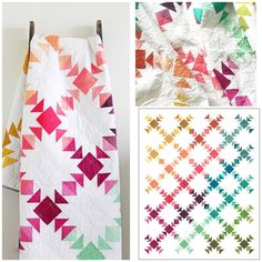 Quilting Projects, Quilting Designs, Quilting Tutorials, Quilting Ideas, Ombre Fabric, Quilt Modernen, Patchwork Quilt Patterns, Patchwork Fabric, Crazy Patchwork