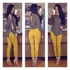 """Images from Maria Palafox """"Find this beautiful outfit 😍👌 You can dress it up by tugging in your shirt or wear it as it is for a casual look 😊 31 Beautiful Outfits To Try Out Now! Beautiful Business Casual Attire for the Ladies For any graduates Business Casual Outfits, Classy Outfits, Chic Outfits, Beautiful Outfits, Spring Outfits, Trendy Outfits, Fashion Outfits, Womens Fashion, Elegante Outfits"""