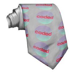 coded neck tie