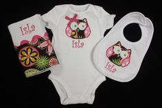 Baby Girl Owl Gift Set