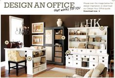Office furniture: Ballard Design's Original Home Office. http://www.ballarddesigns.com/collections/original-home-office/