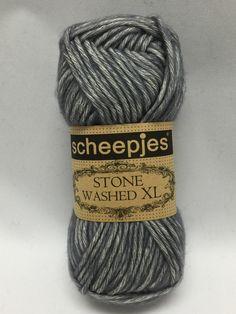 Smokey Quartz, 842, Sheepjes Stone Washed XL, Gray Yarn, Cotton Yarn by GoodFiberYarns on Etsy https://www.etsy.com/listing/262352614/smokey-quartz-842-sheepjes-stone-washed