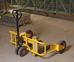 All Terrain Pallet Jack Accessory - Tow Bar Package by Vestil. $178.25. This lightweight yet strong tubular framed manual all terrain pallet jack is designed to travel over rough ground where no ordinary pallet truck can go. Use on construction sites and gravel areas. Operates like a standard pallet truck. This pallet truck features large wheels to reduce your moving effort. The all terrain pallet truck is designed to transport loads over rough, snowy and uneven surfaces. Insid...