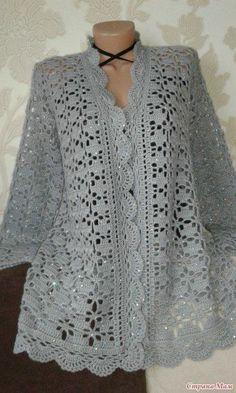 Fabulous Crochet a Little Black Crochet Dress Ideas. Georgeous Crochet a Little Black Crochet Dress Ideas. Crochet Bolero Pattern, Gilet Crochet, Crochet Coat, Crochet Cardigan Pattern, Crochet Shirt, Crochet Jacket, Cotton Crochet, Crochet Clothes, Crochet Patterns
