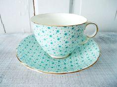 Printed teacup and saucer