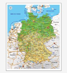 germany map printable vector 01 full editable adobe illustrator