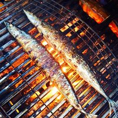 """""""Pacific saury or pike mackerel on the grill. It's served with grated daikon radish and soy sauce. What's your favorite grilled fish?"""" Photo taken by @yi_reservation on Instagram, pinned via the InstaPin iOS App! http://www.instapinapp.com (06/20/2015)"""