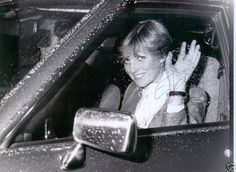 Lady Diana Spencer on the night of her engagement