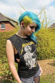 Blue & Yellow Hair