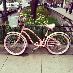 OH MY GOD! OH MY GOD! OH MY GOD!!! I found my perfect bike. Its a Schwinn and its got heart shaped polka dots on it! I really think I'm in LOVE!!!