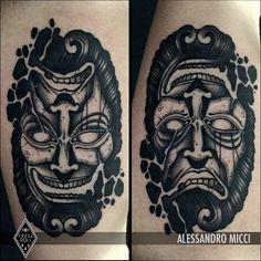 By Alessandro Micci Ambigramm Tattoo, Demon Tattoo, Wild Tattoo, Dark Tattoo, Tattoo Drawings, Black Tattoos, Small Tattoos, Tattoos For Guys, Old School Tattoo Designs
