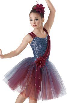 Weissman™ | Sequin Two Tone Drape Skirt Dress