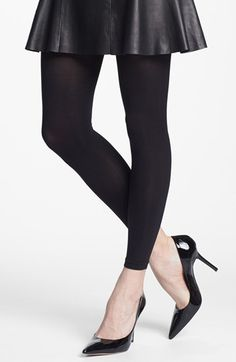 Nordstrom 'Everyday' Opaque Footless Tights available at #Nordstrom
